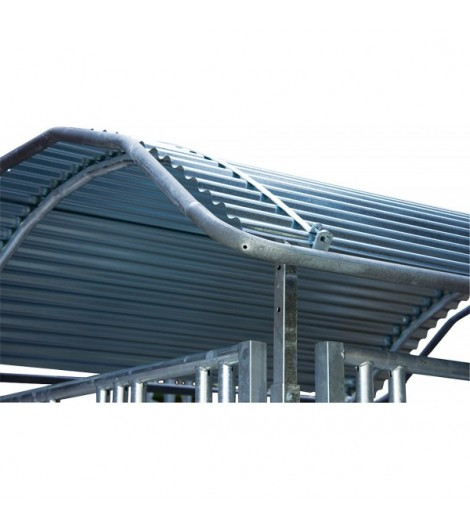 Dachkanten-Schutzbügel für Großballenraufen 3 x 2 m, vz umlaufend