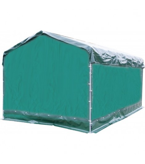 Wetterschutzplane für Panel-Dach Giebelseite