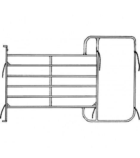 Panel mit Rahmen 3,05 m, H: 1,95 m, vz