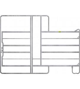 Panel-6 mit Tor und Fressgitter 2,40 m, 1 Fressplatz Breite 2,40 m, Höhe 2,20 m