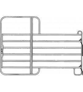 Panel-6 mit Tor 3,00 m Breite 3,00 m, Höhe 2,20 m