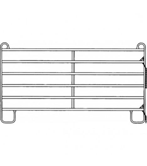 Panel-6 2,40 m / Breite 2,40 m, Höhe 1,70 m (1 Mittelstrebe)