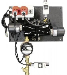 Umlaufheizsystem Mod. 312, 6000W/400V,mit Thermostat und Umlaufpumpe