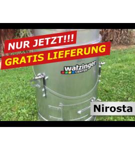 Agro-Fuchs Edelstahl Nirosta Futter-Dämpfer 80LT