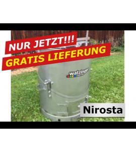 Agro-Fuchs Edelstahl Nirosta Futter-Dämpfer 100 lt.