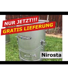 Agro-Fuchs Edelstahl Nirosta Futter-Dämpfer 120 lt.