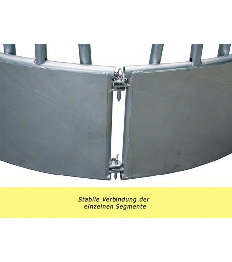 Rundraufe mit Schrägfressgittern, d: 2,10 m, 18 Fressöffnungen