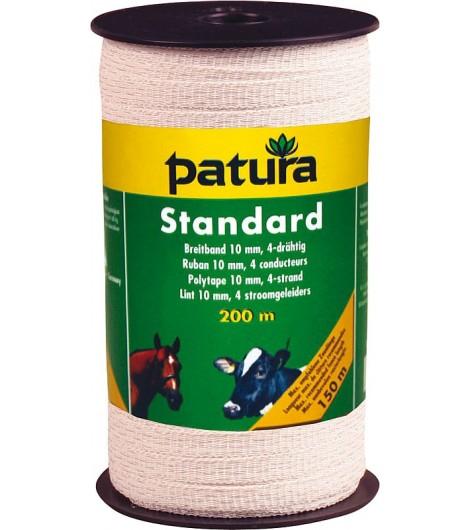 Standard Breitband 10mm, 200 m Rolle 4 Niro 0,16mm, weiss