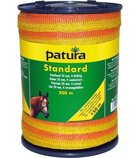 Standard Breitband 20 mm, 200 m Rolle 4 Niro 0,16mm, gelb-orange