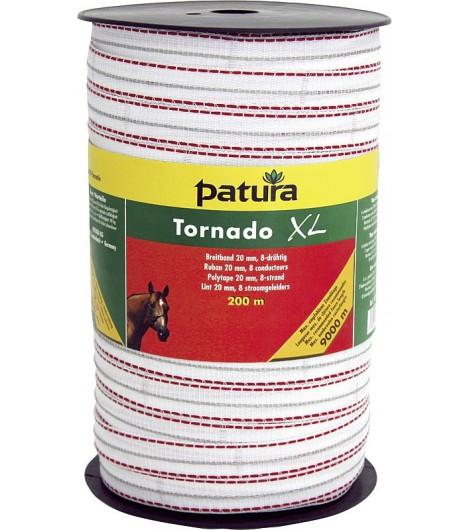 Tornado XL Breitband 20 mm, 400 m Rolle 6 Niro 0,20 mm, 2 Cu 0,30 mm, weiss-rot