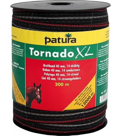 Tornado XL Breitband 40 mm, 200 m Rolle 11 Niro 0,16mm, 3 Cu 0,30mm, braun