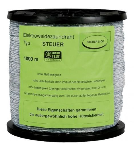 Spezial-Kunststoffdraht, transparent, Nylonseele, 2 verz. Drähte, 1000 m Rolle
