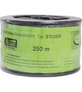 Spezial-Kunststoffdraht, transparent, Nylonseele, 2 verz. Drähte, 250 m Rolle