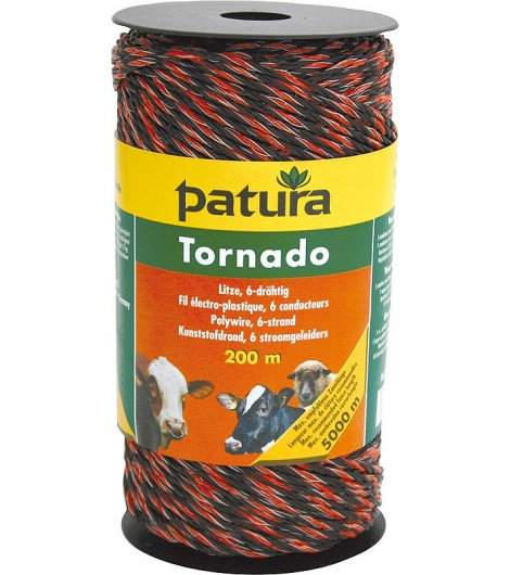 Tornado Litze, 200 m Rolle, braun-orange 5 Niro 0,20 mm, 1 Cu 0,30 mm