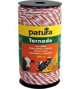 Tornado Litze, 400 m Rolle, weiss-orange 5 Niro 0,20 mm, 1 Cu 0,30 mm