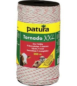 Tornado XXL Litze, 1000 m Rolle geflochtene Litze, weiss-rot 6 Niroleiter 0,20mm, 3 Cu-Leiter 0,30mm