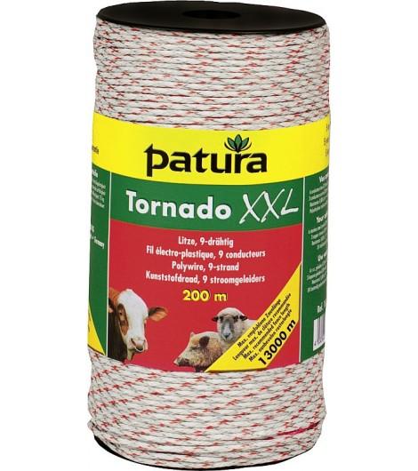 Tornado XXL Litze, 200 m Rolle geflochtene Litze, weiss-rot 6 Niroleiter 0,20mm, 3 Cu-Leiter 0,30mm