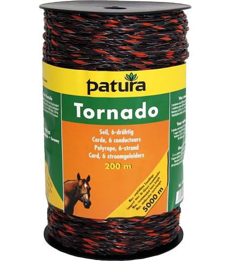 Tornado Seil, 200 m Rolle, braun-orange 5 Niro 0,20mm, 1 Cu 0,30mm
