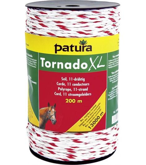 Tornado XL Seil, 200 m Rolle 8 Niro 0,20 mm, 3 Cu 0,30 mm, weiss-rot
