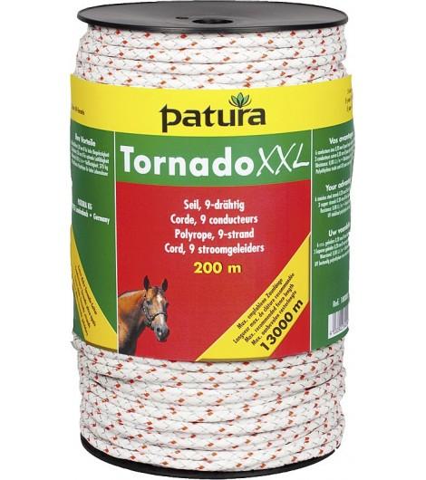 Tornado XXL Seil, 200 m Rolle, 6 Niro 0,20 mm, 3 Cu 0,30 mm, weiß-rot
