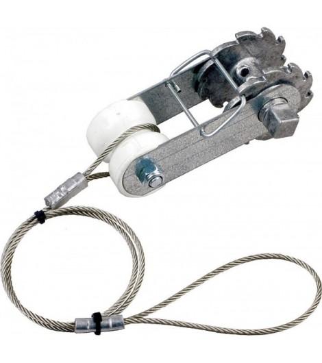 Ratschenspanner mit Isolator und Seil (2 Stück / Pack)