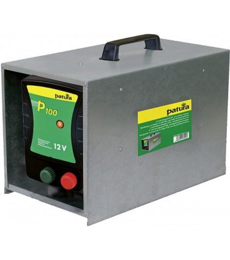 P100, Weidezaun-Gerät für 12 V Akku mit Tragebox