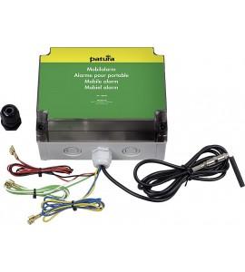 Alarme pour portable avec alimentation par batterie incorporée