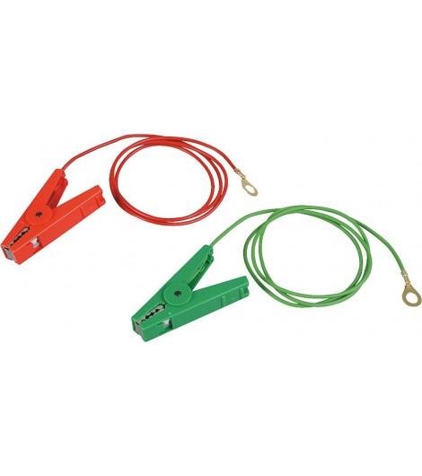 Erdanschlußkabel, grün, Edelstahl-Klemme und 8 mm Ringöse (1 Stück / Pack)