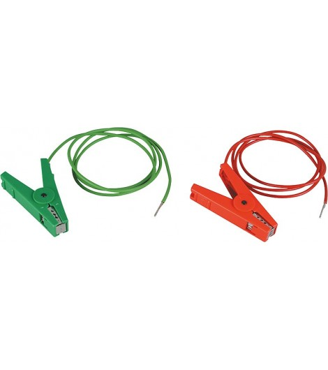Zaun- und Erdkabelset, mit 2 Klemmen und 3 mm Stiften (1 Stück / Pack)