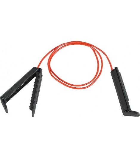 Zaunverbindungskabel Breitband, mit 2 Kunststoff-Klemmen (2 Stück / Pack)