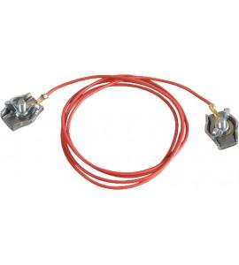 Zaunverbindungskabel Seil, mit 2 Edelstahl-Seilklemmen (1 Stück / Pack)