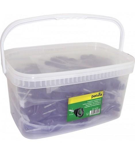 Festzaun-Isolator für Draht (Eimer mit 150 Stück)