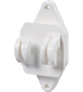 Festzaun-Isolator, weiss, für Seil und HippoWire (25 Stück / Pack)