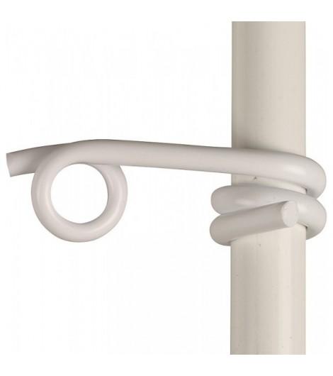 Kunststofföse weiß, f. Litzen/Seile Pfähle bis 19mm (25 Stück / Pack)