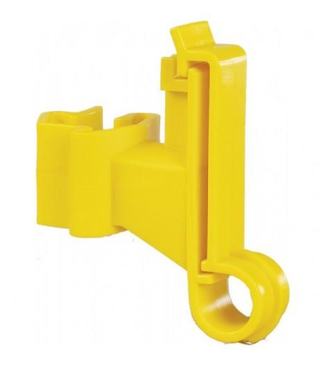 Breitband-Isolator für T-Pfosten, gelb (25 Stück / Pack)