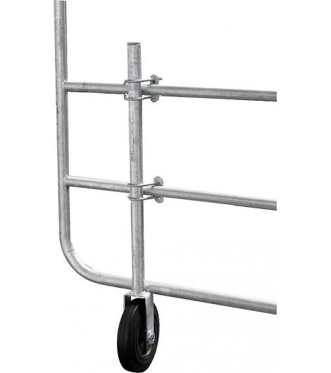 Stützrad für Weidetore verstellbar