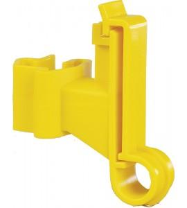 Breitband-Isolator für T-Pfosten, gelb (Karton mit 500 Stück)