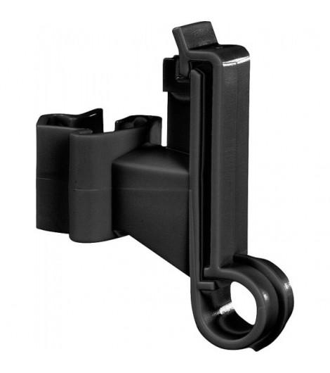 Breitband-Isolator f. T-Pfosten, schwarz (25 Stück / Pack)