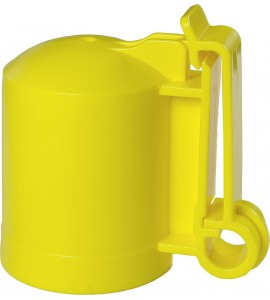Kappen-Isolator f. T-Pfosten -GELB- (10 Stück / Pack)