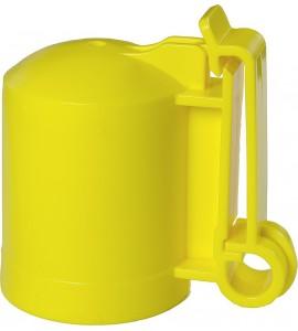 Kappen-Isolator f. T-Pfosten -GELB- (Karton mit 200 Stück)