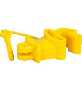 Standard-Isolator mit Stift, gelb, für T-Pfosten (Karton mit 500 Stück)