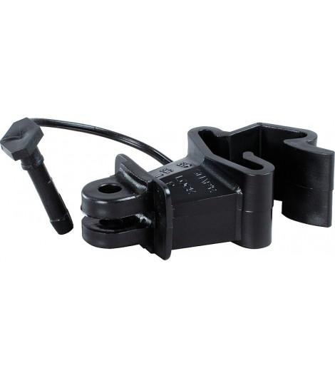 Standard-Isolator mit Stift, schwarz, für T-Pfosten (25 Stück / Pack)