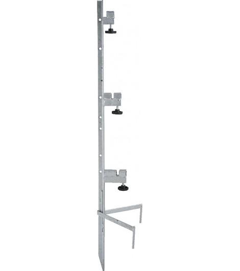 Spezial-Montagepfahl, für 3 Haspeln Zaunhöhe bis 1,00 m