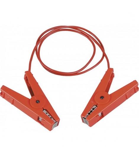 Zaunverbindungskabel, isol. Edelstahlklemme für 2-dr. Zäune (2 Stück / Pack)