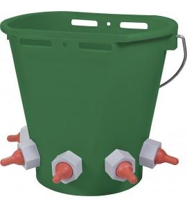 Tränkeeimer für Lämmer 5 Tränkestellen, Inhalt: 8 Liter inkl. Saugern