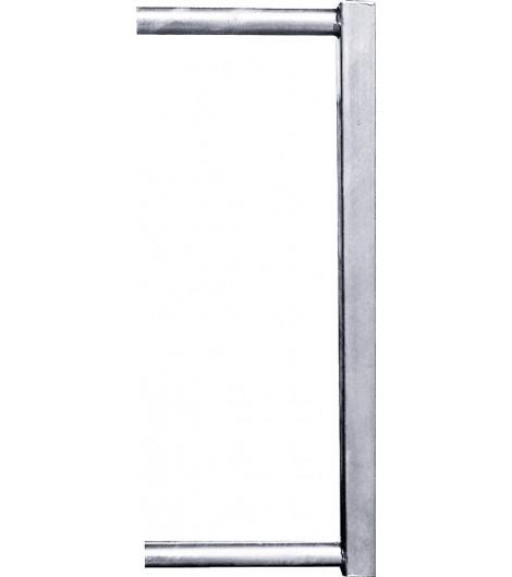 Abschlussrohr 45x45 f. Kälberfressgitter f. Schnellverschluss TS und Anschraubt. mit Einschub 34 mm